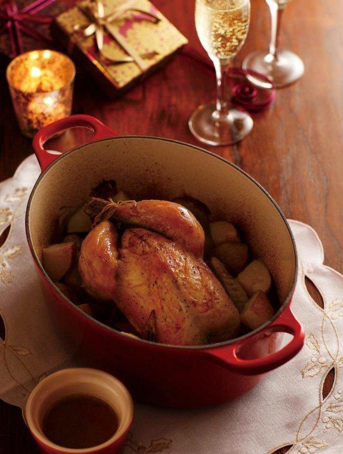 le creuset 圣诞大餐食谱:法式香草烤春鸡图片