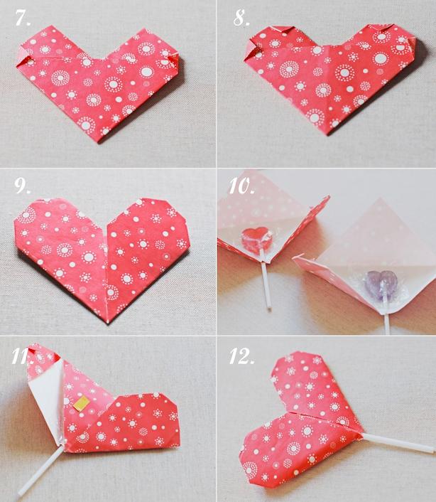 Подарок сердце из бумаги 346