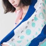 Yinke小狗星球軟軟毛巾(靛藍橫款)