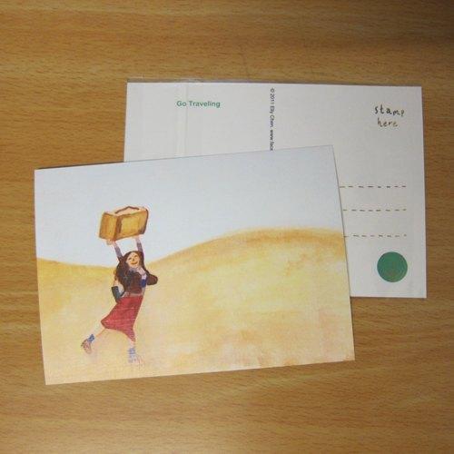 不管是生日的时候, 出国旅行的时候 我更爱收到朋友寄来的明信片 不论