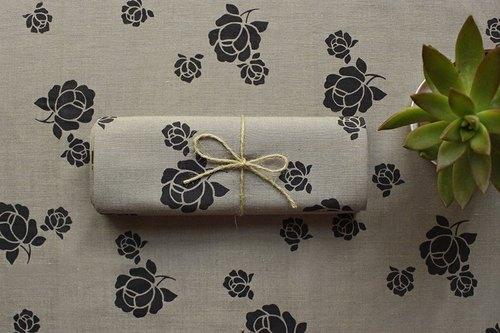 印花布料-塑胶袋花纹/摩卡咖啡色