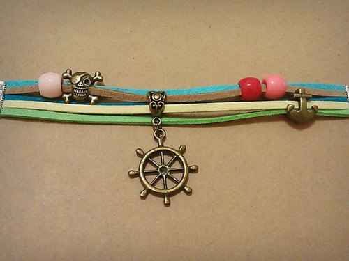 五线谱-韩国绒绳手环-船舵与骷髅的方向 - double-s 1