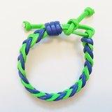 「瑩光綠&藍雙色仿皮繩」
