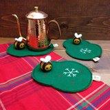 //聖誕新品預購// 蜜蜂也來過聖誕。杯墊