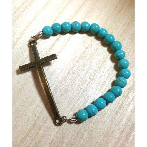 手工珠子编织法图解十字架''
