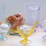 CB(藍色)搥花 淇淋杯 、 沙拉碗 、 點心盤 各2入-共6入 原價$1440  超值組 優惠價$1163