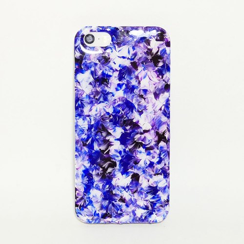 chuckling ::: 田园系列 x 青花瓷神秘紫混搭 ::: 手绘手机壳