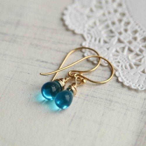 可爱小水滴耳环