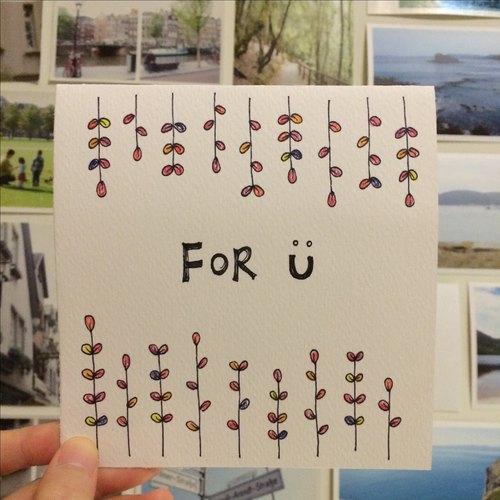 手绘卡片.26—for u甜蜜微笑卡