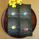 ★黑色星星天空 明信片(四種房子)