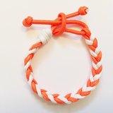 「橘色&白色雙色仿皮繩」