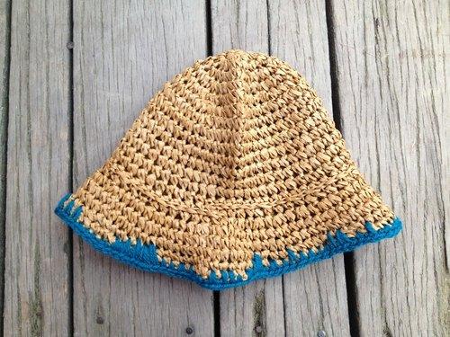 绳+毛线编织渔夫帽