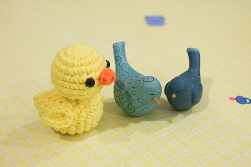 毛线编织 迷你黄色小鸭
