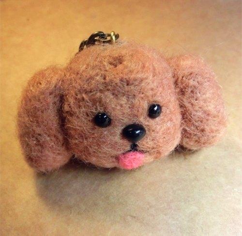 羊毛毡钥匙扣动物 可爱小狗