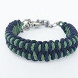 黑綠雙色編織