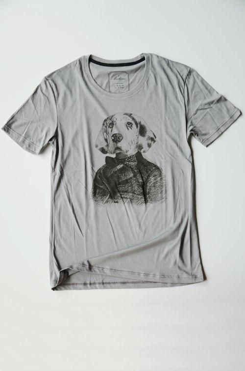 手绘西装图案t恤