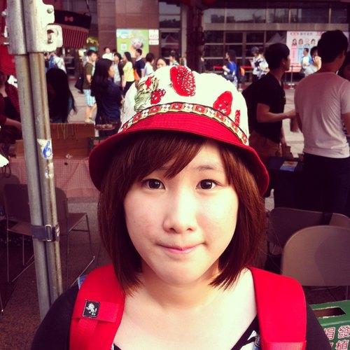 手工制作 台湾出品 原创设计 手工制作 可爱小红蘑菇渔夫帽 懒骨头
