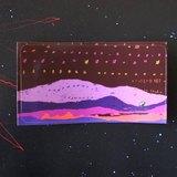 我的大塊風景 ✮衛星男孩、山、天空(紫) 小張貼紙