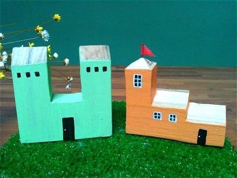 欧洲风童趣彩色可爱小木屋