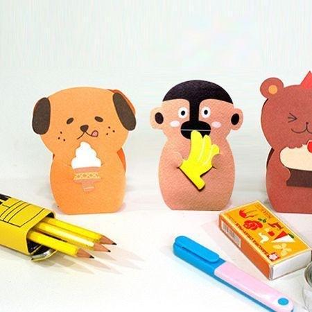 商品说明及故事 / jamstudio快乐动物立体卡片,每一只可爱动物都会