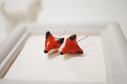 狐狸森林*软陶胸针*手工制作