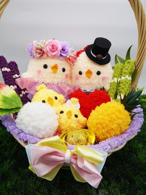 棉花糖系 可爱毛线编织带路鸡 - 小王子的棉花城堡