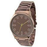 簡約手錶(啡色)配鋼帶