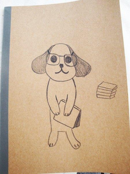 爱读书的可爱狗狗笔记本