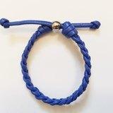 「經典藍色仿皮繩」