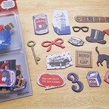 日本 Mark's Flake Sticker 城市旅行 裝飾貼紙【倫敦 (STK-FL3-B)】36入