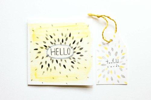 感谢/祝贺/万用/生日卡片 - 小黄蜜蜂
