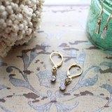 simple~~方型鋯石耳環
