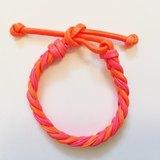 「橘色&粉色雙色仿皮繩」