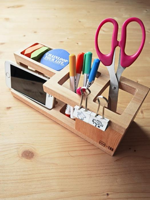 桌面 整理 原木 收納 筆筒 雜物盒