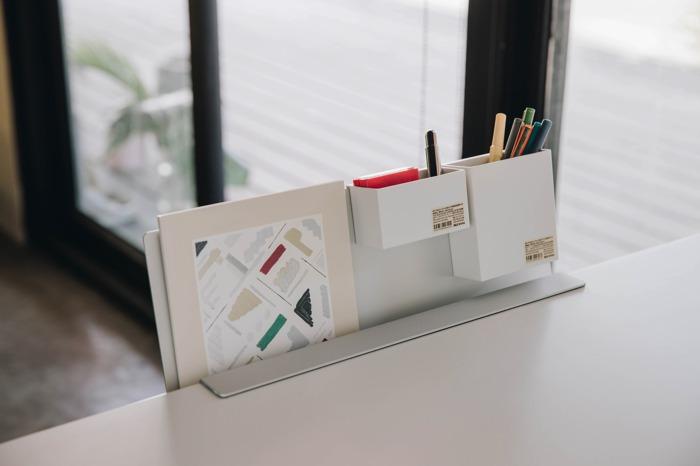 桌面 整理 桌邊收納 根號邊架
