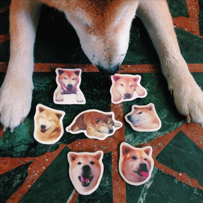 柴犬帆布別針 浪浪捐贈 流浪狗