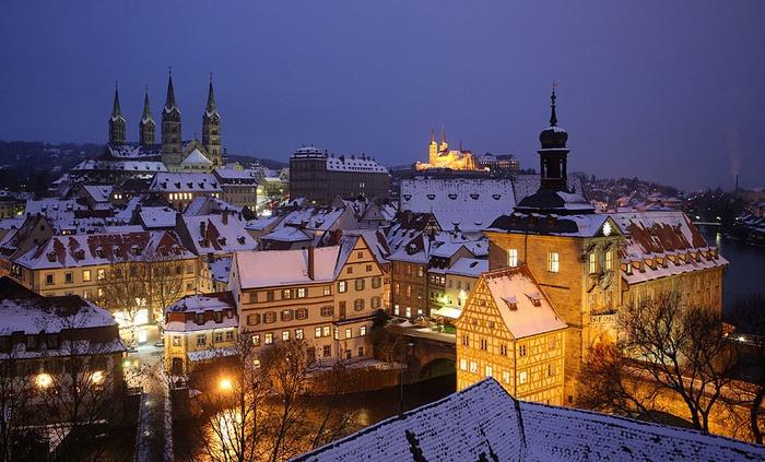 德國 班貝格 下雪 冬天旅行 旅行 歐洲 下雪的國家 會下雪的國家 下雪國家 下雪城市