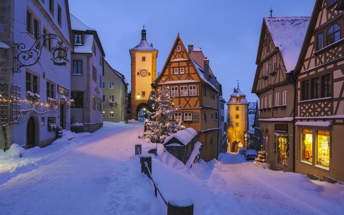 德國 羅滕堡 下雪 冬天旅行 旅行 歐洲 下雪的國家 會下雪的國家 下雪國家 下雪城市