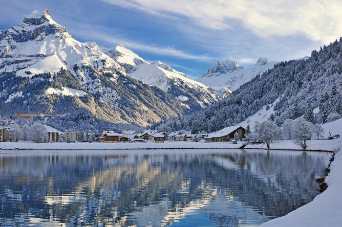 瑞士 英格堡 下雪 冬天旅行 旅行 歐洲 下雪的國家 會下雪的國家 下雪國家 下雪城市