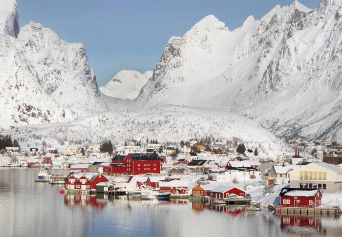 挪威 雷納 下雪 冬天旅行 旅行 歐洲 下雪的國家 會下雪的國家 下雪國家 下雪城市