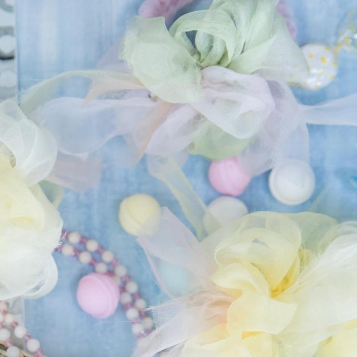 日本品牌 Chiko 花漾編織的輕紗材料