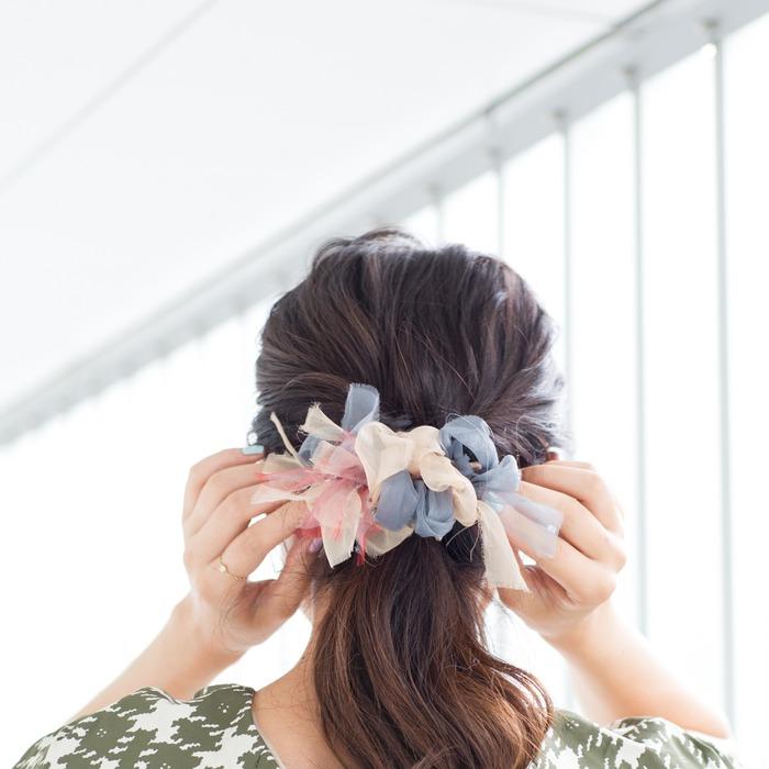 日本品牌 Chiko 的花漾編織 髮圈