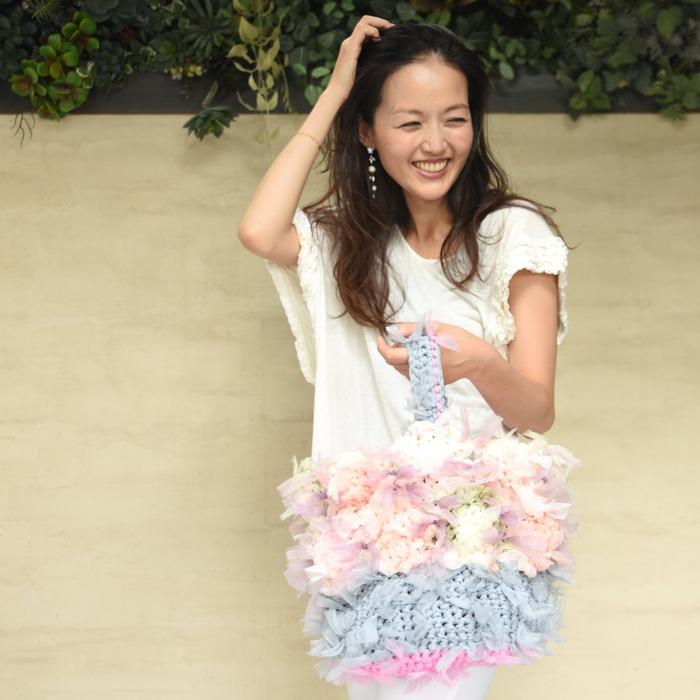 日本品牌 Chiko 花漾編織 手提包 包包