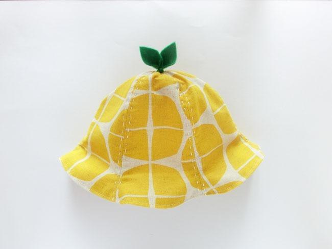 日本童裝 檸檬色小帽