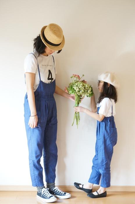 日本童裝 棉麻連身褲