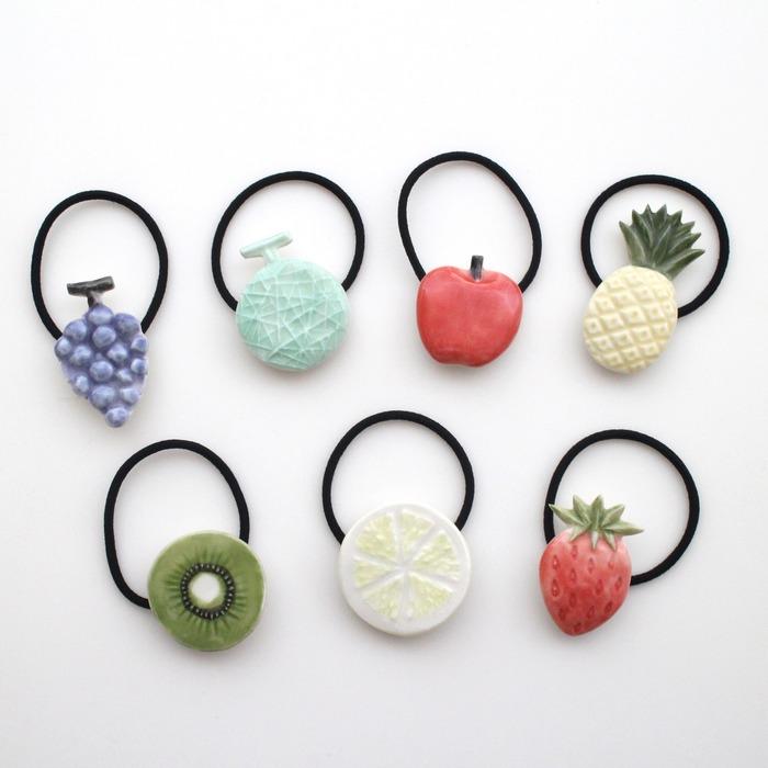 日本飾品 po-to-bo 的水果髮飾