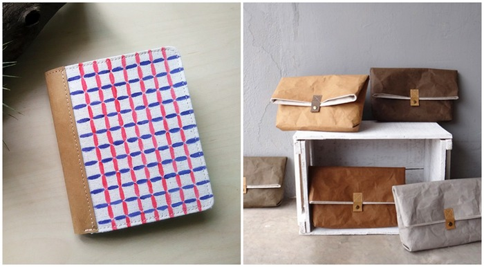 馬來西亞水洗牛皮紙 叉米 短夾 包包
