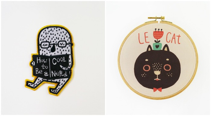 馬來西亞插畫 minifanfan 繡片 貓咪刺繡