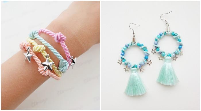 泰國飾品 elbraza 粉嫩手鍊耳環
