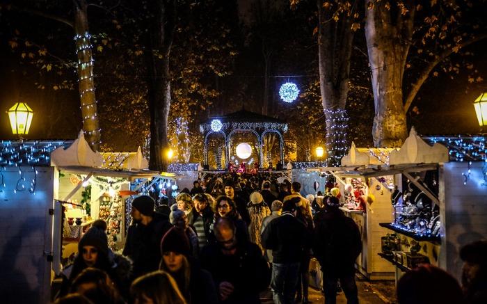 Christmas market in Zagreb Croatia Europe